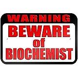 """graphique et plus """"Warning Beware of Biochimiste"""" 22.9x 15.2cm plaque en métal Tableau"""