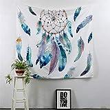 LYJZH Esclusivo Tappeto Decorativo con Mandala Anche Come Biancheria da Letto, arazzo, Applicazione a Muro, Multicolore Ciondolo da Sogno in Stoffa Decorativa da Appendere 4 230X150 cm