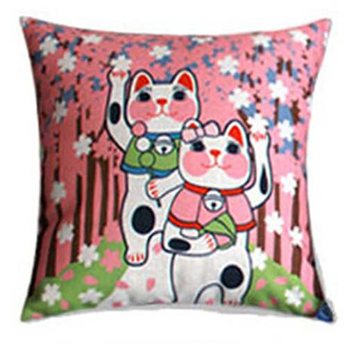 Black Temptation Style Japonais Coussin d'oreiller Confortable pour la Maison/Sushi Restaurant 45x45cm -A17