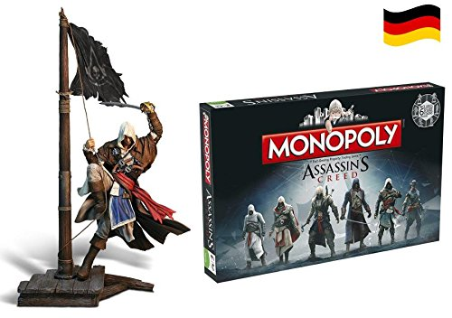 Assassins Creed Monopoly deutsch & Edward Kenway Figur 45cm Doppelset (Assassin Creed Elise)