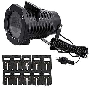Satkago projecteur no l led 10 motif tanche lampe for Projecteur led noel gifi