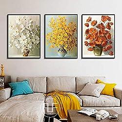 Decoración nórdica Arte para el hogar Flores Carteles y estampados Color Margarita holandesa Pintura de la pared Modular Wall Pictures For Living Room Sin marco