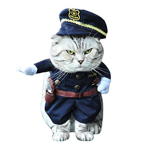 Kiao Halloween Kostüm Fiber Polyester Verkleidung Verschiedene Beruf Für Hund Welpen Puppy police, M