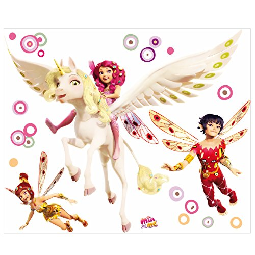 PPS. Imaging Wandtattoo Kinderzimmer Mia and Me - Mia Yuko und Mo, Größe HxB: 37cm x 45cm