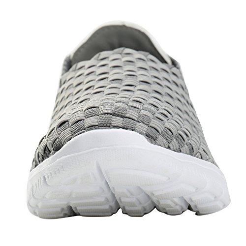Alexis Leroy Slip-ons Profilsohle Sportschuhe Sneakers Damen Halbschuhe Slipper Grau