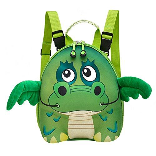 Babyrucksack Kindergartenrucksack 3D Schultasche Karikatur Rucksack Tasche Kleinkind Jungen Mädchen Kindergartentasche Cartoon Backpack Dinosaur Mxssi