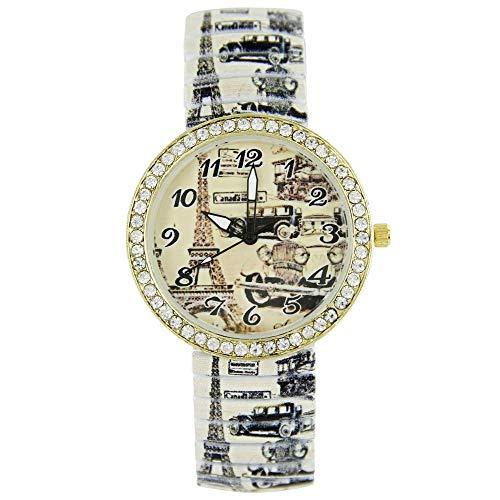 Armbanduhr Modeschmuck Paris Retro Strass Giorgio 2198