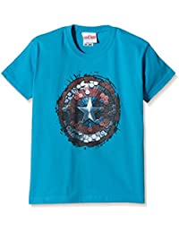 Marvel Boy's Captain America Civil War Hex Shield T-Shirt
