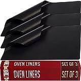 3 Stück Oven Liner Backofen-Schutzmatten - Antihaftbeschichtet Wiederverwendbar