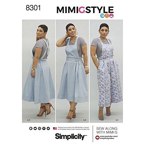 9243942846 Simplicity Pattern 16 – 18 – 20 – 22 – 24 Mimi G Estilo de Costura