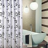 Musuntas Hohe Qualität 100% Polyester Wasserdicht Bad Duschvorhang - extralange 200 * 240cm mit Ring Haken