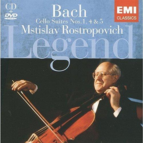 Rostropovich-bach-cello-suiten (Bach: Cello Suites Nos. 1, 4 & 5 (Bonus DVD) by Legend (2008-11-26))