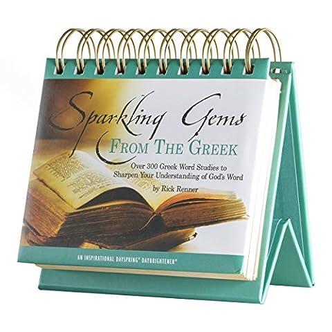 DaySpring Sparkling Gems from the Greek, DayBrightener Perpetual Flip Calendar, 366 Days of Inspiration