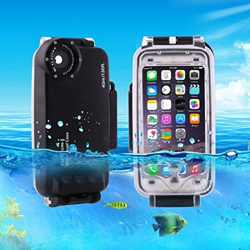 HAWEEL 40m Wasserdichtes Tauchen Gehäuse Foto Video Unter Wasser Abdeckung Fall für iPhone 6 & 6s by diebelleu ( Color : White ) Black