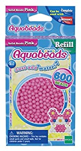 Aquabeads- Solid Beads, Color Rosa (Epoch para Imaginar 32588)