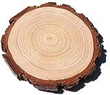 4 Packs Holz Runde, natürliche unlackiert behandelt Holzplatte rustikale Party Holz Untersetzer, Holz-Dekor für zu Hause, rustikale Hochzeit & Party