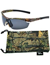 Hornz Brown Camuflaje del Bosque polarizados Gafas de Sol para los Hombres del Abrigo Alrededor del