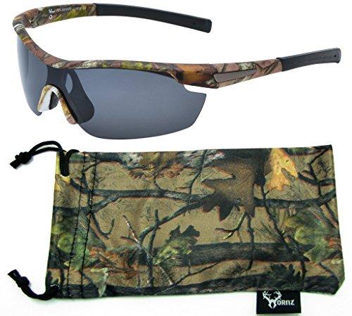Hornz Forrest braun Camouflage polarisierten Sonnenbrillen für Männer um Sport Rahmen & freie passende Beutel aus Mikrofaser - Braun Camo Rahmen - Rauch- Objektiv