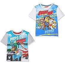 Pack 2 Camisetas Manga Corta Patrulla Canina para Niño Colores Variados con Chase, Marshall - Paw Patrol 2 T-Shirt