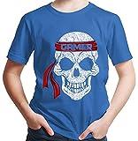 HARIZ  Jungen T-Shirt Skull Alien Gamer Gamer Gaming Fun Retro Nerd Geburtstag Inkl. Geschenk Karte Royal Blau 152/12-13 Jahre