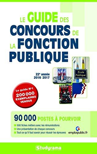 Le guide des concours de la Fonction Publique par Studyrama