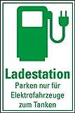 LEMAX® Hinweisschild Ladestation Elektrofahrzeug, Kunststoff, 300x200mm