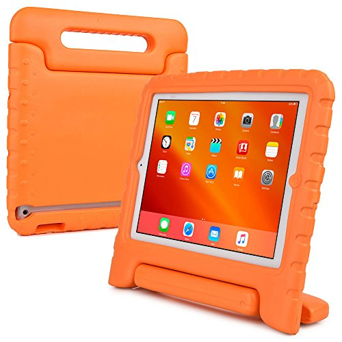 iPad 4 3 2 hülle fur kinder, COOPER DYNAMO Beanspruchbare, strapazeirfähige, robuste, gepolsterte Hartschalenhülle mit integriertem Griff, Standfunktion & durchsichtigem Displaysschutz (Orange)