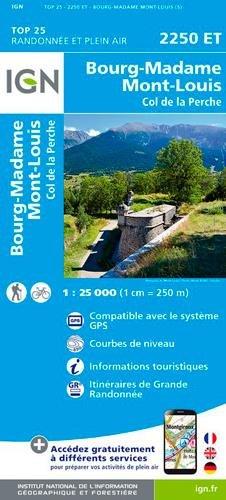 Bourg-Madame / Mont-Louis / Col de la Perche por Institut Géographique National