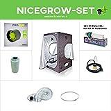 Growset - Nice Price - Komplettset 100W Growzelt Quietlüfter Silient ESL Blüte