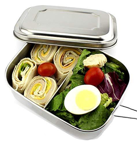 Oldpapa acciaio inossidabile porta pranzo scatola pranzo scatola bento lunch box con 2 scomparti
