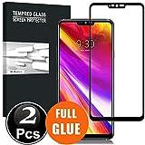 Scott-DE LG G7 ThinQ Schutzfolie, 3D Curved Edge Glas Folie 9H Härte Panzerglas [Anti-Kratzen] [Anti-Bläschen] Bildschirmschutzfolie für LG G7 ThinQ [X2-Schwarz]