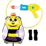 Newin Star - Pistola de Agua,Lanzador de Agua,con depósito Mochila -Diseño de Linda Abeja para niños