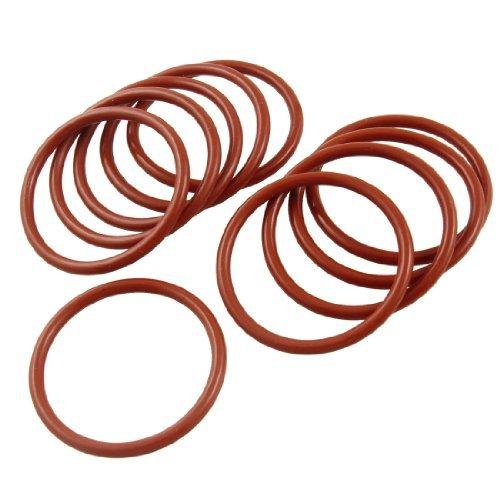 Sourcingmap - 10 pezzi di silicone industriale di tenuta o anello rondella 41 millimetri x 48 x 3,5 mm