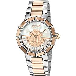 Roberto Cavalli por Franck Muller de las mujeres de reloj de cuarzo reloj Casual acero inoxidable, color: dos tono (modelo: rv2l011m0136)