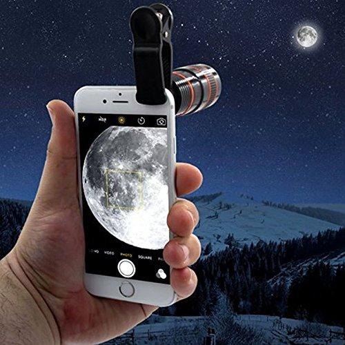 Galaxy S5 Samsung Zoom-objektiv (TDC Universal-Objektiv zum Anstecken für Handys, 8-facher optischer Zoom,HD Teleskop-Kameraobjektiv für iPhone 8/7/6S/6/6/6s, Samsung Galaxy S8/S8/S7/S7 Edge/S6/S5/Note 5, weiß)
