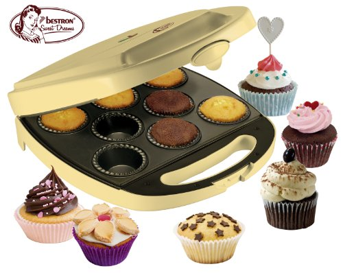 Bestron DKP2828 - Máquina para hacer cupcakes y muffins, 1400W