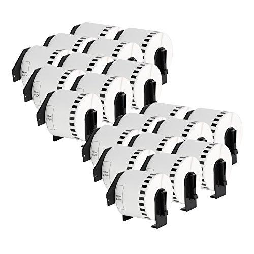 20er Set - Endlos-Etikett kompatibel zu Brothers DK-22205   Thermopapier mit Kunststoffhalter / 62mm x 30,48 m  einsetzbar in Brother P-Touch QL 500 Series / 500 / 500A / 500BS / 500BW / 550 / 560 Series / 560 / 560VP / 560YX / 570 / 580 Series / 580 / 580N / 650TD / 700 / 710W / 720NW / 1000 Series / 1050 / 1050N / 1060N (580 Series)