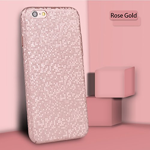 iPhone 6 Case, iPhone 6S Case, Yunbaozi Mosaic Grid Texture Hard Protective Case 3D Frosted Case Slim Shell Anti-Scratch Anti-Shock Anti-Slip Cover for iPhone 6/ iPhone 6S - Pink