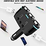 Mayitr Dual USB Port 3 Way Auto Car Cigarette Lighter Socket Splitter Charger Plug Adapter DC 5V For Smart Phone And PC Ipad Mp3