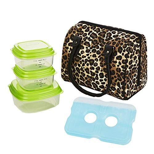 fit-fresh-jackson-insulated-lunch-bag-kit-with-reusable-containers-natural-leopard-by-fit-fresh