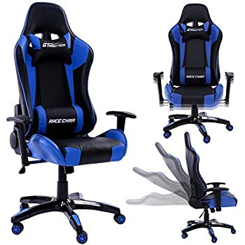 Schreibtischstuhl Racing Chair Chefsessel mit Fußstütze Bürostuhl Gaming Stuhl