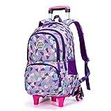 C-Xka Trolley a Prueba de Agua Rolling Backpack Equipaje Libro de Viaje de la Escuela Multifunción Mochila de Ruedas Estudiantes Bolsas de Escuela con Seis Ruedas
