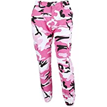 2a4cc1e66a8cb Hibote Pantalones de Camuflaje Girls Pantalón Militar Hip Hop Jogger Dance  Pant