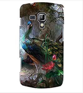 ColourCraft Beautiful Peacocks Design Back Case Cover for SAMSUNG GALAXY S DUOS S7562