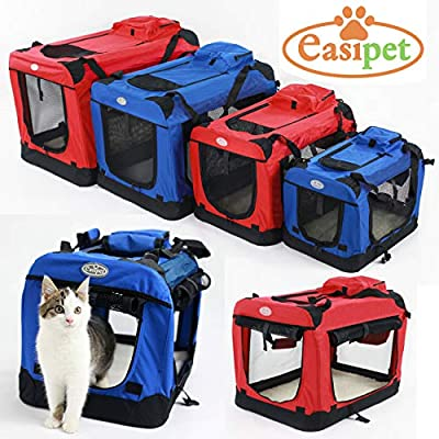 Easipet Fabric Pet Carrier Available in Red or Blue from easipet