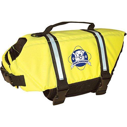 Pet Stores Paws Abroad Dog Life Jacket Large 50 - 90 Lbs - Yellow