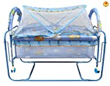 #9: GoodLuck Baybee New Born Baby Comfortable Swing Cradle for kids | Suitable For Boys & Girls - (Blue)