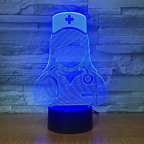 ankenschwestern 3D 7 Farbe Lampe Visuelle Led-Nachtlichter Für Kinder Touch Usb Tischlampe Modische Romantische Tragbare Nacht ()