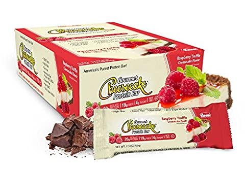 Advanced Nutrient Science Intl Gourmet Cheesecake Protein Bar Raspberry Truffle Cheesecake Flavor