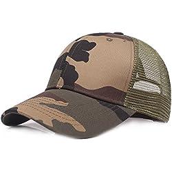 Gorra de béisbol Ocio Retro Hat Gorra de Jungla para Hombre Sombrero de Sol Deporte al Aire Libre Primavera Verano Tapa de Rejilla para Unisex Hombre Mujer (C)